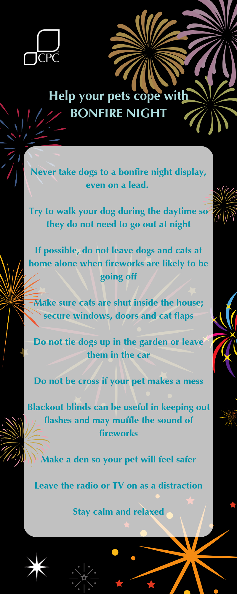 Pet safety this firework's night