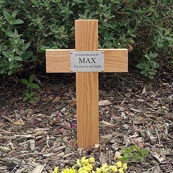 Oak Cross Pet Memorial