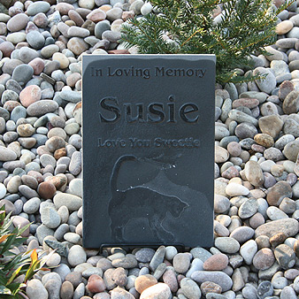 Reverse Etched Headstone Pet Memorial