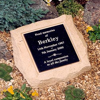large rockery pet memorial stone