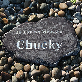 Rustic Stone Pet Memorial