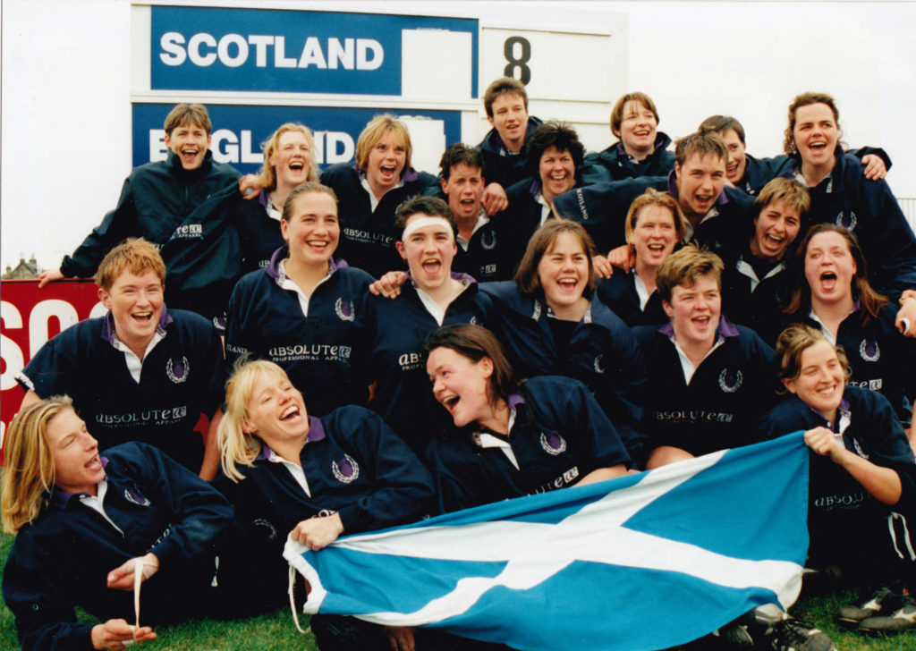 Scotland's Female Rugby team picture
