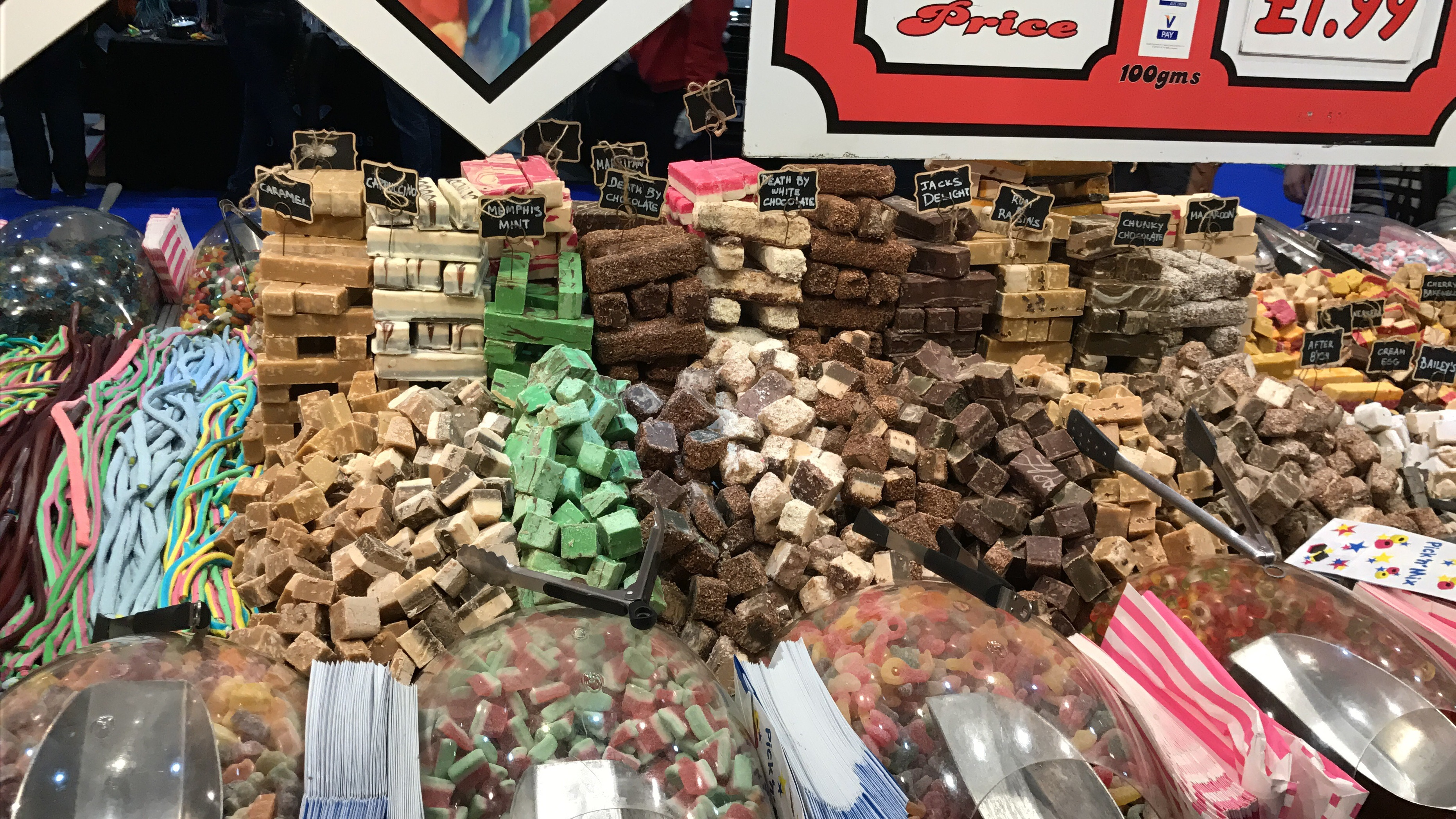 Sweet Stand - Display of fudge