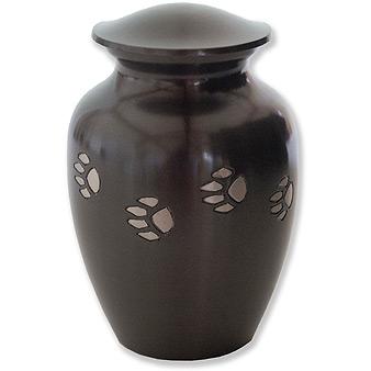paw print pet urn