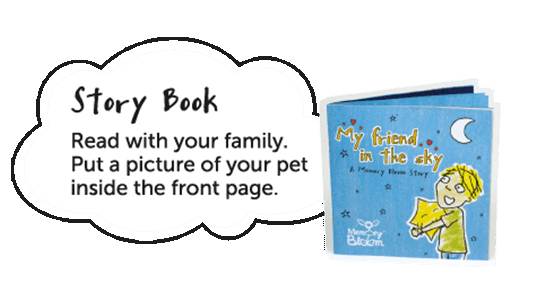 Memory Bloom flower memorial pot illustrative book