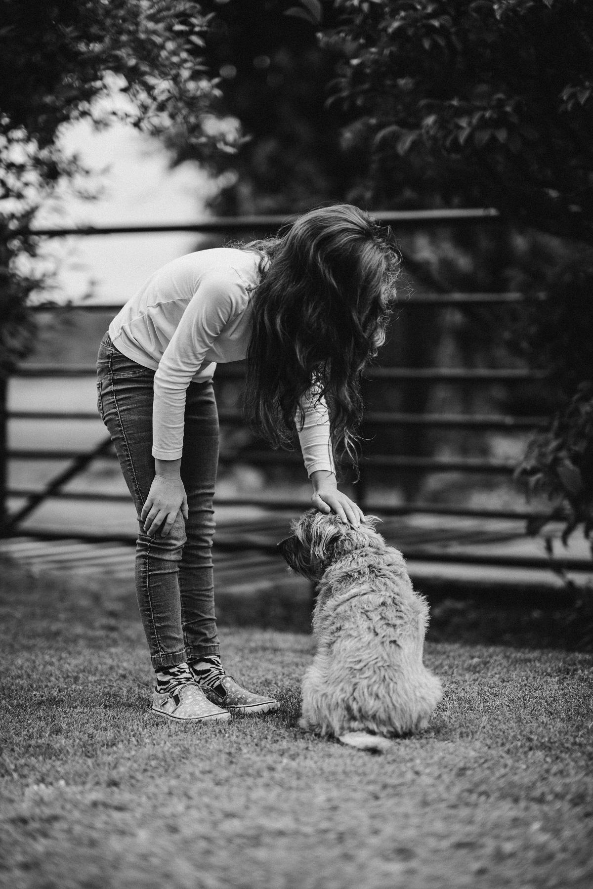 Autistic Girl with dog
